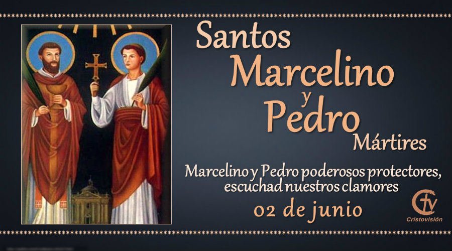 SANTO DEL DÍA    Santos Marcelino y Pedro, Mártires