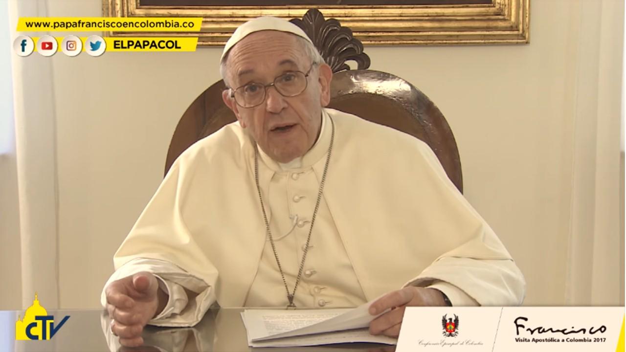 Mensaje Papa Francisco: Iré como peregrino de esperanza y de paz  a Colombia