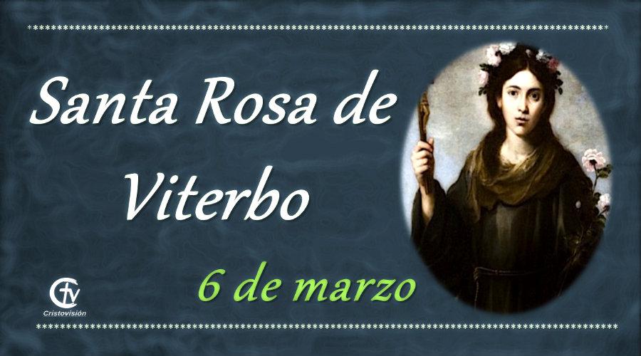 SANTO DEL DÍA    Hoy celebramos a Santa Rosa de Viterbo, Virgen