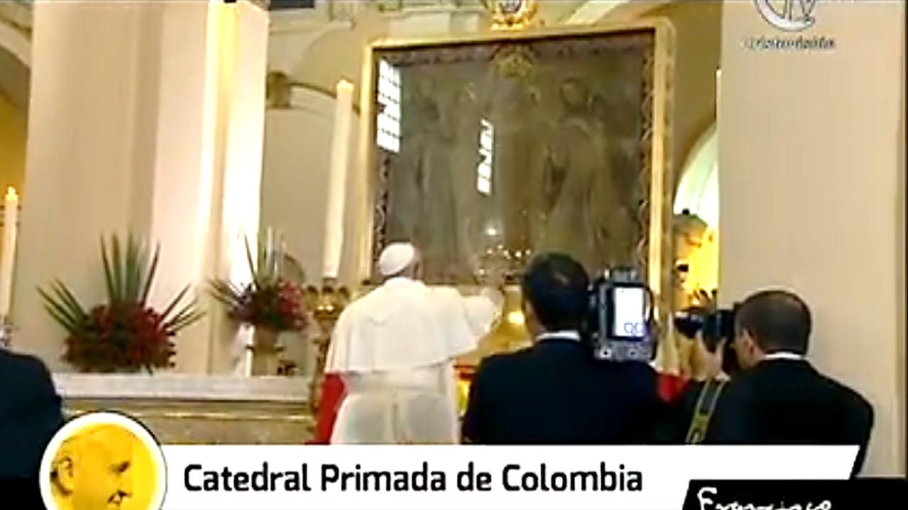 Lo que el Papa pidió a nuestra Señora del Rosario de Chiquinquirá