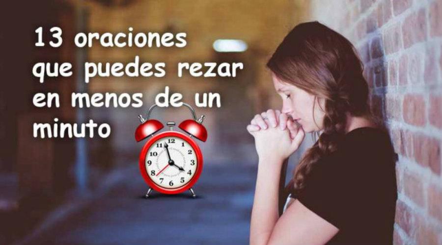 13 oraciones que puedes rezar en menos de 1 minuto