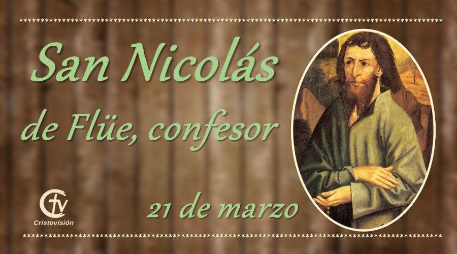 SANTO DEL DÍA    San Nicolás de Flüe, confesor