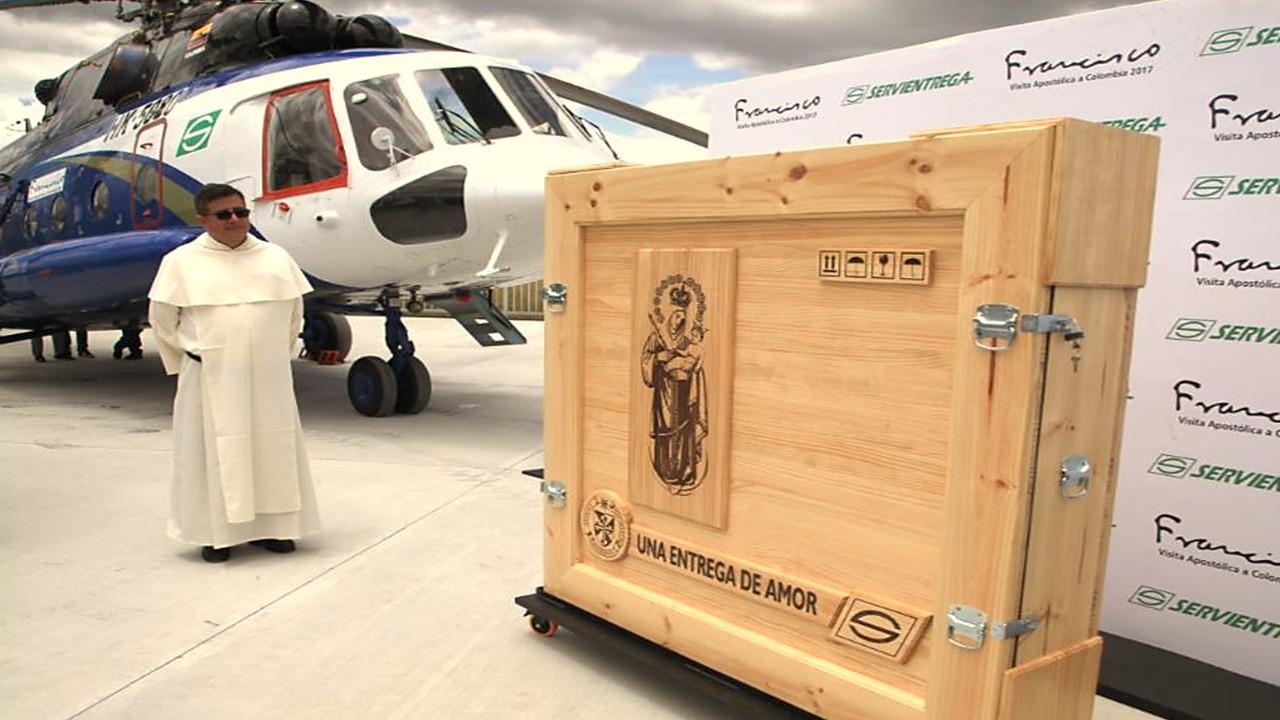 Así será transportada la imagen de la Virgen de Chiquinquirá para la visita del Papa Francisco