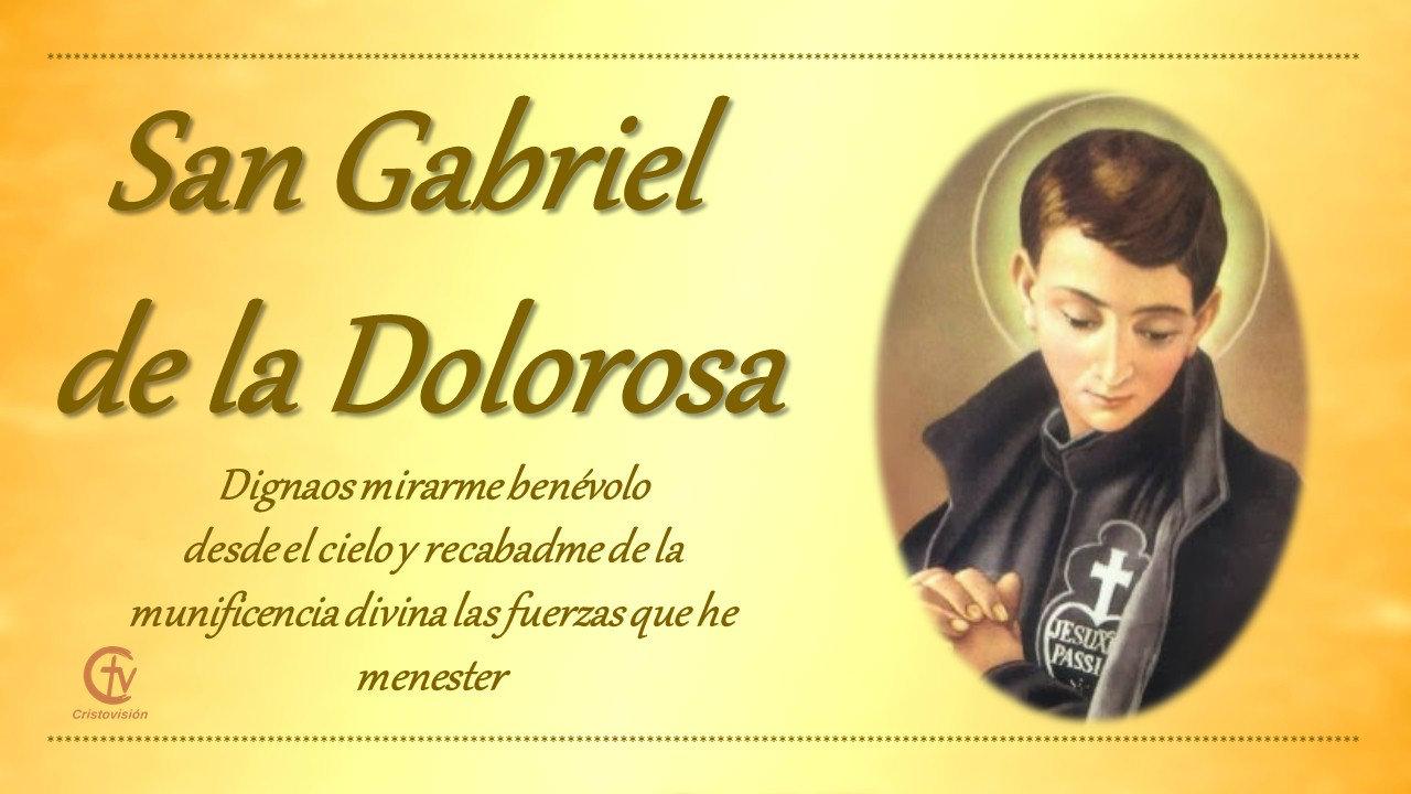 San Gabriel de la Dolorosa, religioso