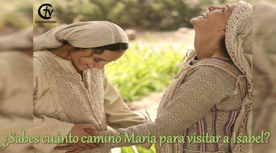 ¿Sabes cuánto caminó María para visitar a Isabel?