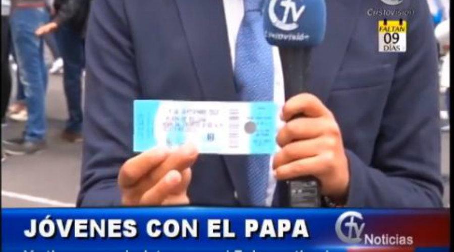 Jóvenes de Colombia ya tienen boletas para ver al Papa Francisco