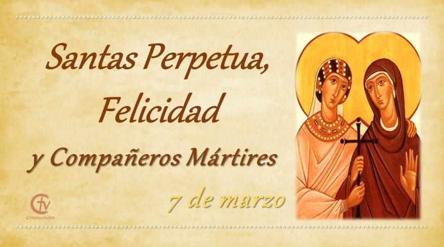 SANTO DEL DÍA    Santas Perpetua, Felicidad y Compañeros Mártires