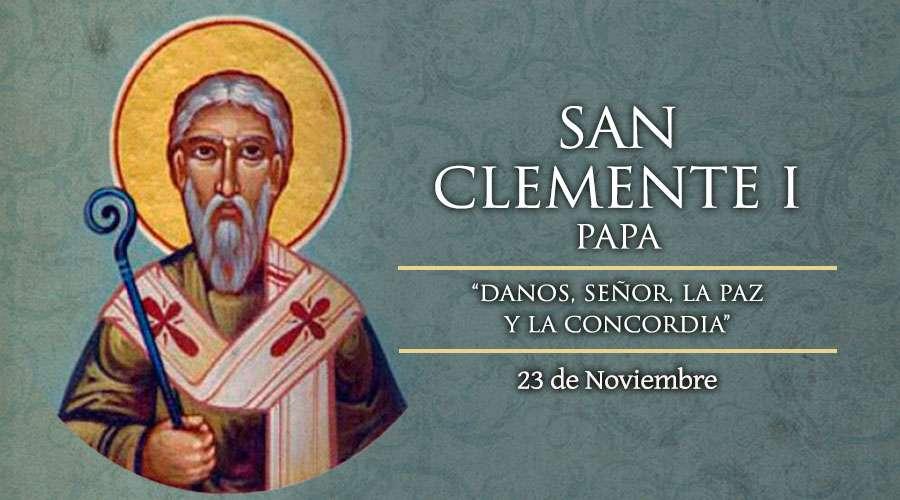 SANTO DEL DÍA    San Clemente I, Papa