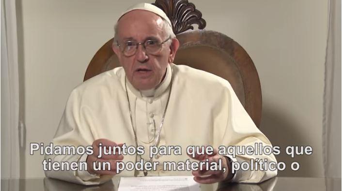 VIDEO || En febrero el Papa Francisco pide por el fin de la corrupción