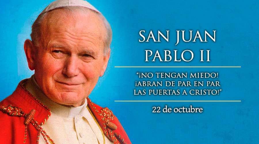 SANTO DEL DÍA || Fiesta de San Juan Pablo II, el Papa de la familia