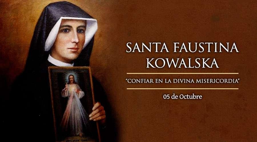 Santa Faustina Kowalska, servidora del Señor de la Divina Misericordia