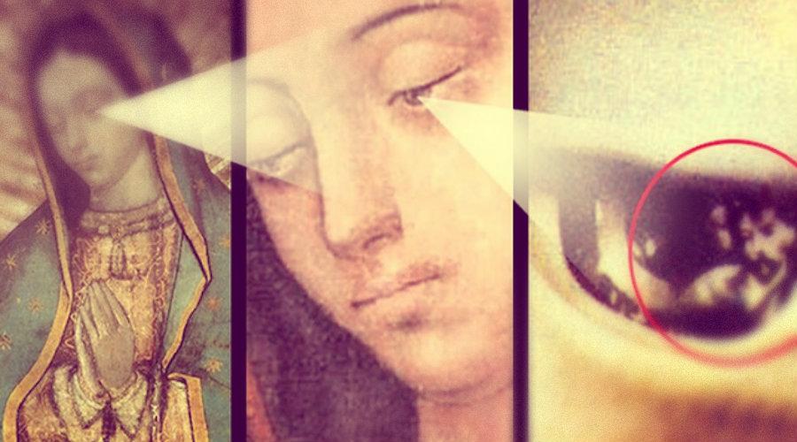 El milagro en los ojos de la Virgen de Guadalupe