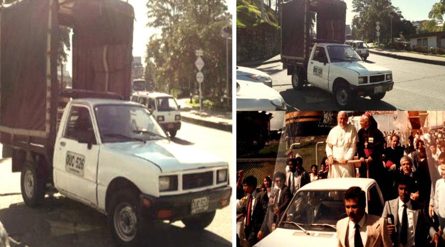 Así luce hoy Papamóvil usado en 1986 en visita de San Juan Pablo II a Colombia